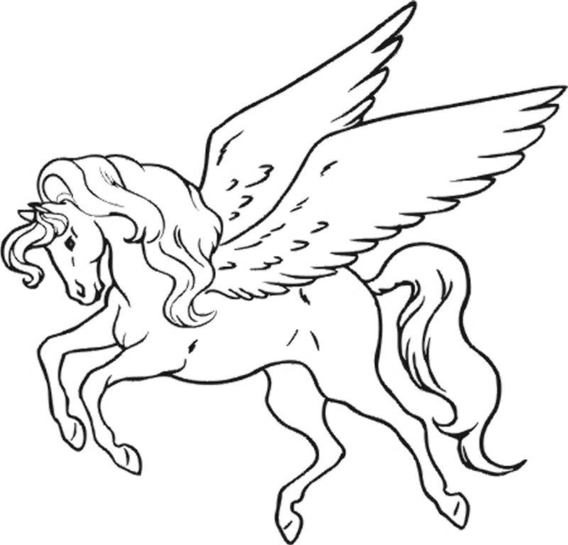 Coloring Pages Unicorn Wings.