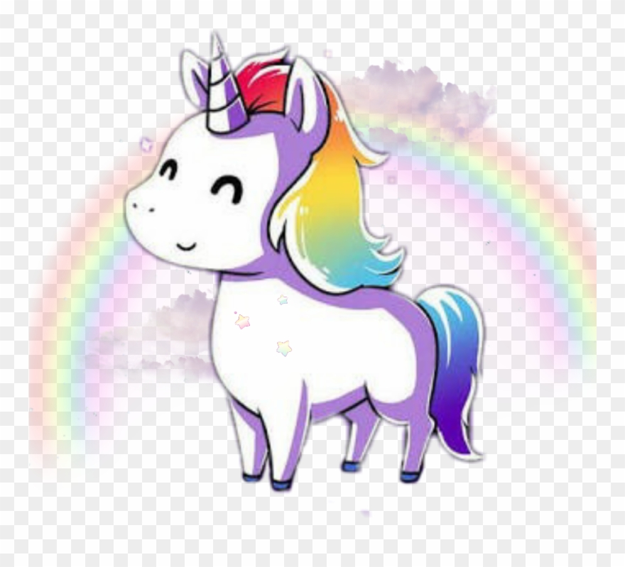 Unicorn Kawaii Rainbow Tumblr Cute Png Cute Rainbow Clipart.