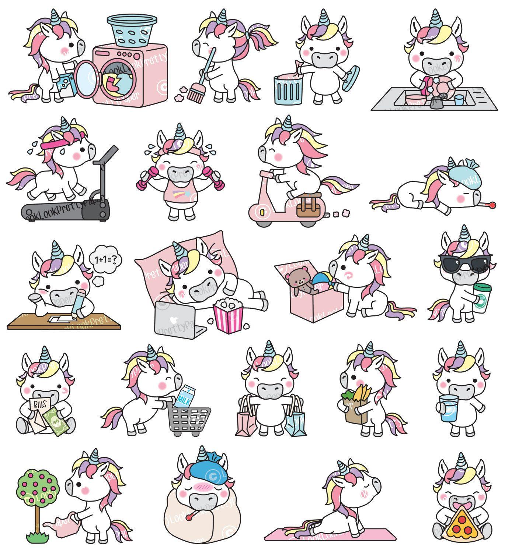 Premium Vector Clipart unicornio de Kawaii por.