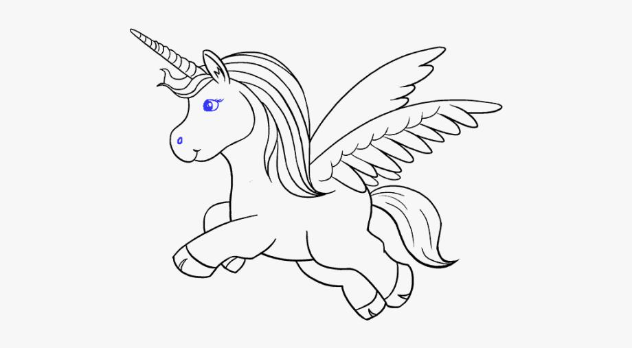 Unicorn Clipart Black And White Easy.