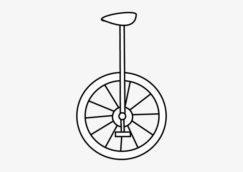Unicycle Clipart Black And White.