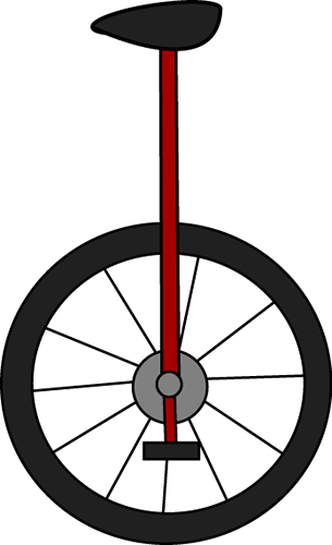 Unicycle Clip Art.
