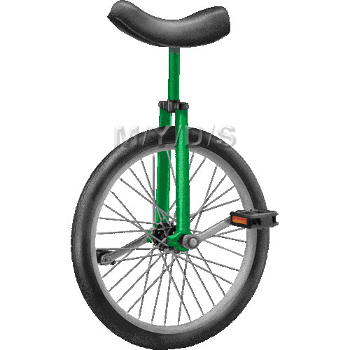 Clip Art Clown On Unicycle Clipart.