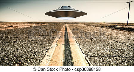 Clip Art of unidentified flying object.