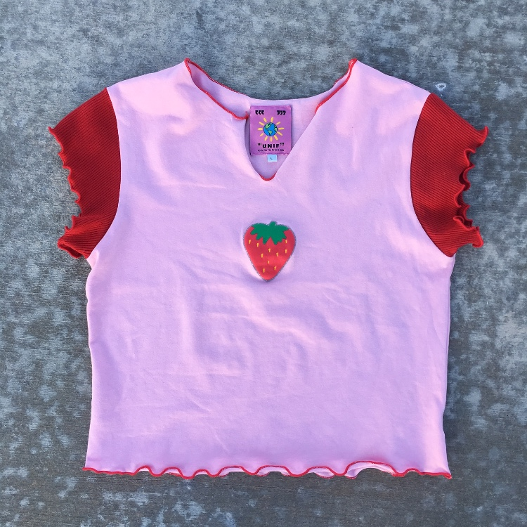 Unif Strawberry Tee! Literally the cutest unif.