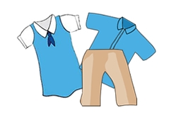 School Uniform Clothes Clipart.