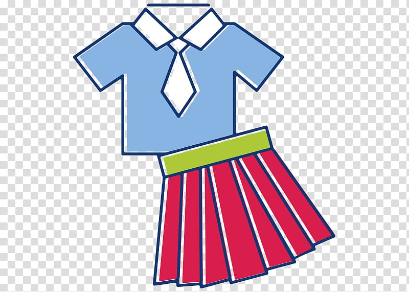 Red skirt , School uniform Clothing , uniform transparent.