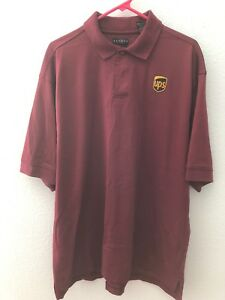 Details about Maroon UPS United Parcel Service Logo Uniform Polo Shirt  XLarge.
