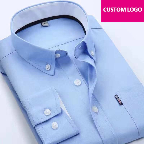 2019 Custom Logo Printed Uniform Shirt Company Team Work Shirts Suit DIY  Text Or Picture Embroidery Business Shirt #555446 From Feiteng002, $40.72.