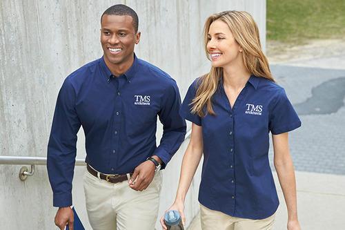 Corporate Uniform With Company Logo.