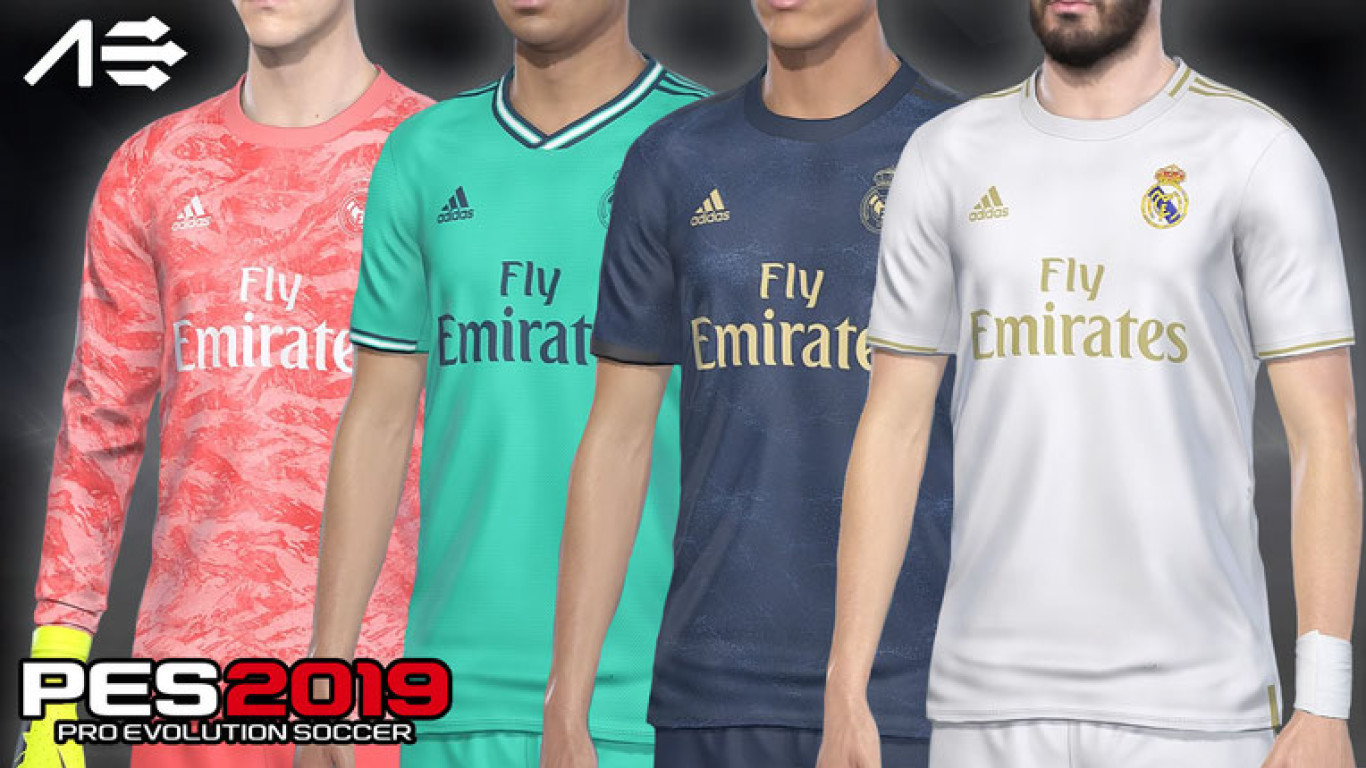 PES 2019 PS4 Real Madrid Kits 2019/2020 by AerialEdson.