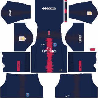 Kits PSG Dream League Soccer 2019.