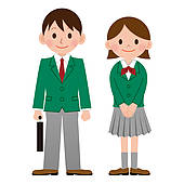 Girl School Uniform Clipart.