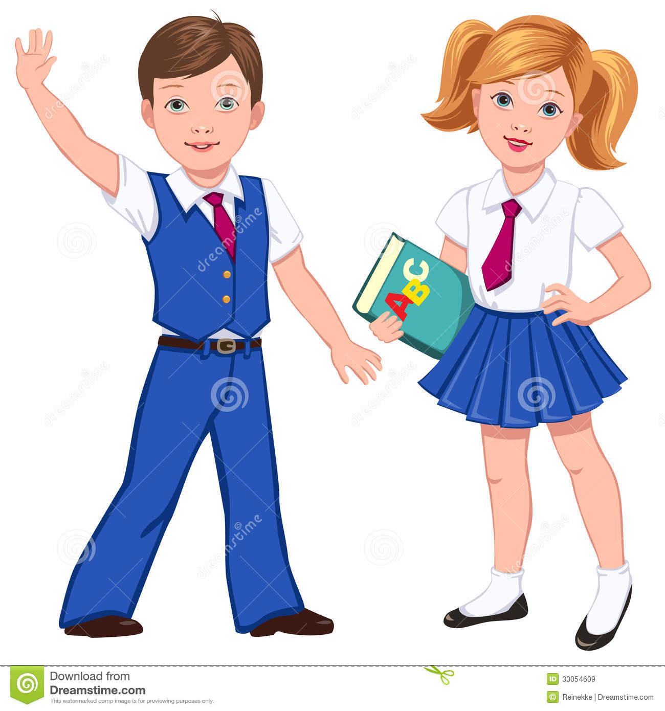 School uniform clothes clipart.