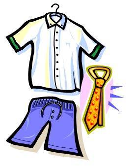 Put On School Uniform Clipart.