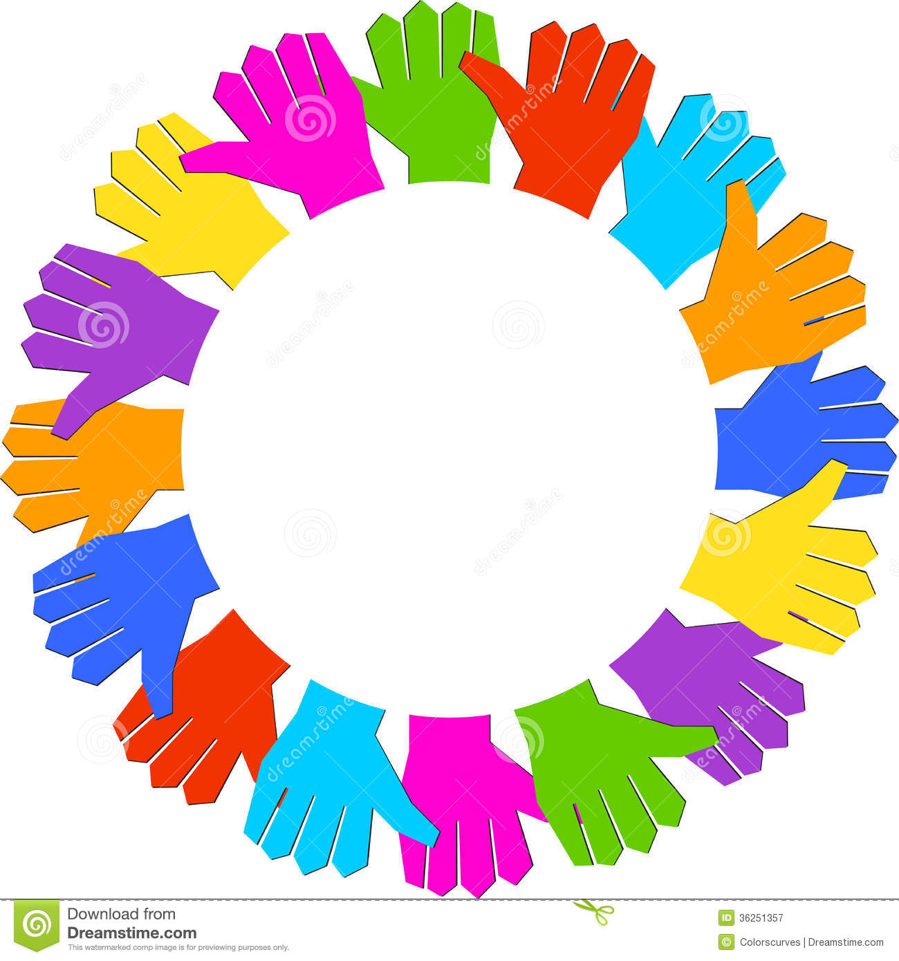 Rotation Hands Royalty Free Stock Photography.
