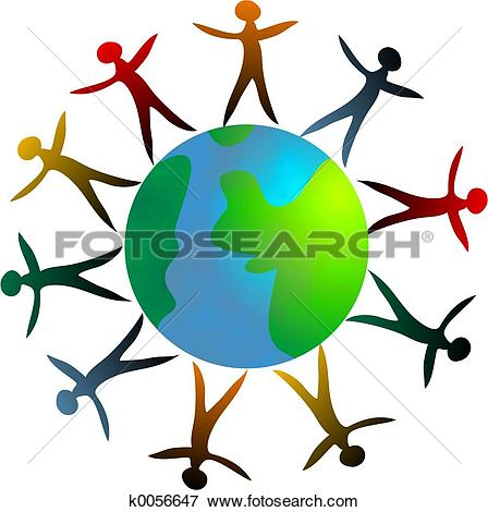 Stock Illustration of diverse world k0131526.