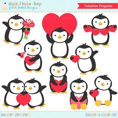 Penguin Girls Clipart.