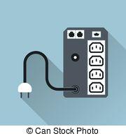 Uninterruptible power supply Clipart Vector Graphics. 11.