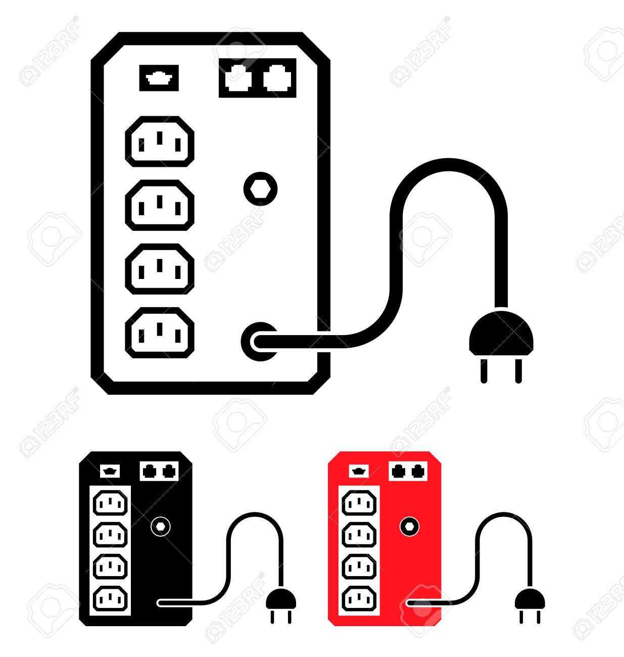 uninterruptible power supply clipart