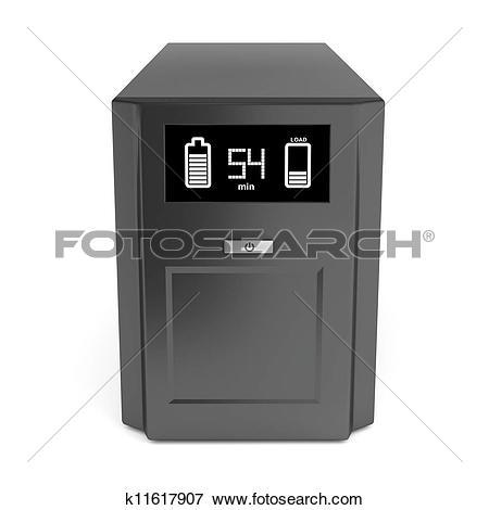 Stock Illustration of Uninterruptible power supply k11617907.