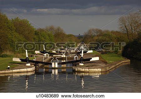 Stock Photograph of England, Warwickshire, Hatton, View south over.