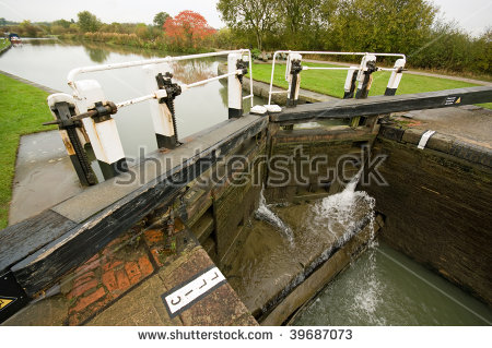 A Typical Canal Lock From A Section Of The Grand Union Canal In.