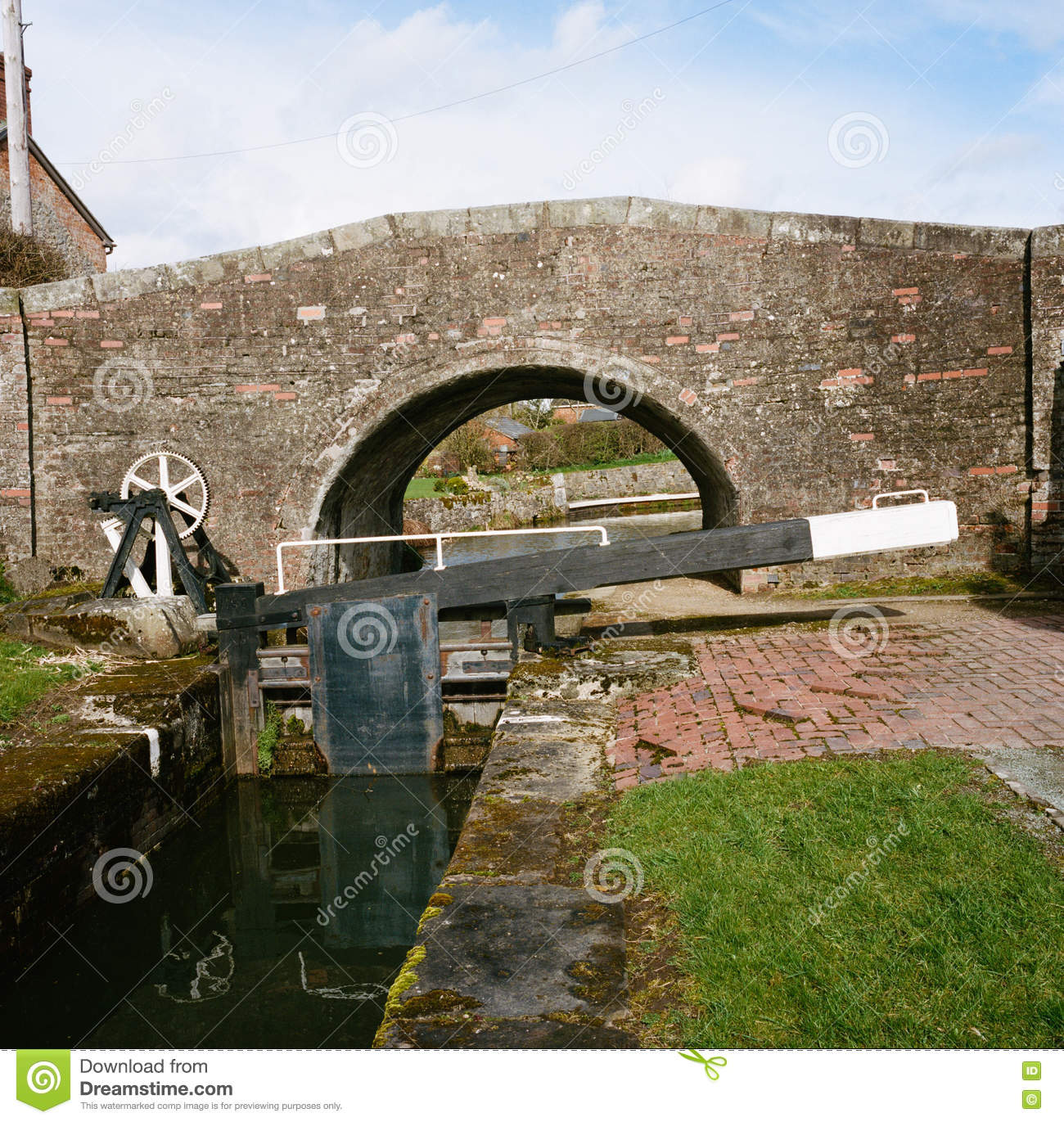 Shropshire Union Canal In Wales Stock Photo.