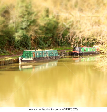 Canal Boat Uk Stock Photos, Royalty.