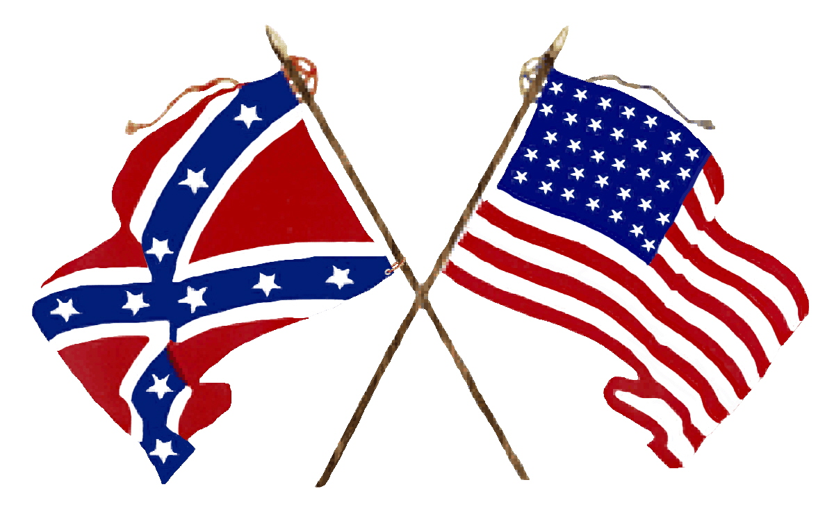 Crossed Union Civil War Army Flags of usa free image.