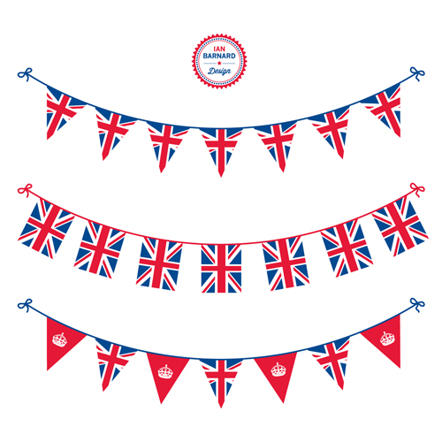 Union Jack Bunting Clipart.