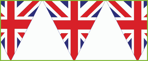 Union jack bunting clipart 6 » Clipart Station.