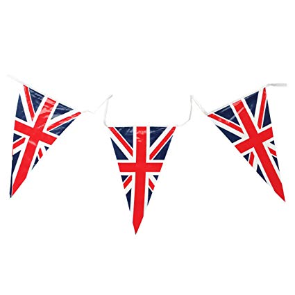 Country Union Jack Triangular Bunting 25 Pendant Flags @ 7m long.