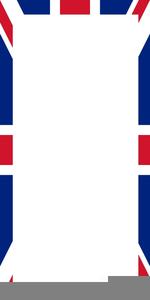 Union Jack Clipart Page Border.