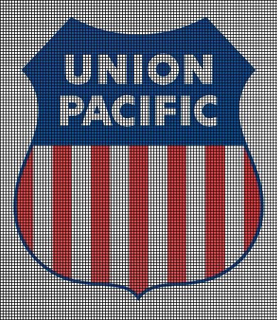 Union Pacific Railroad Logo Crochet Pattern.