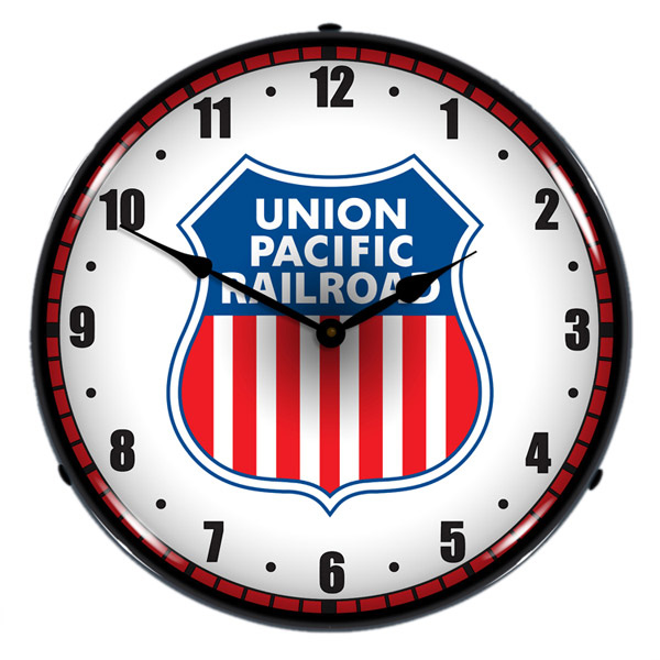 Union Pacific Railroad Logo LED Light Up Train Clock.