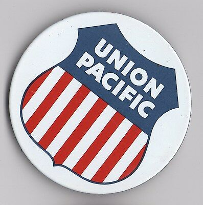 VINTAGE OLD STYLE Sign Magnet Union Pacific Railroad.