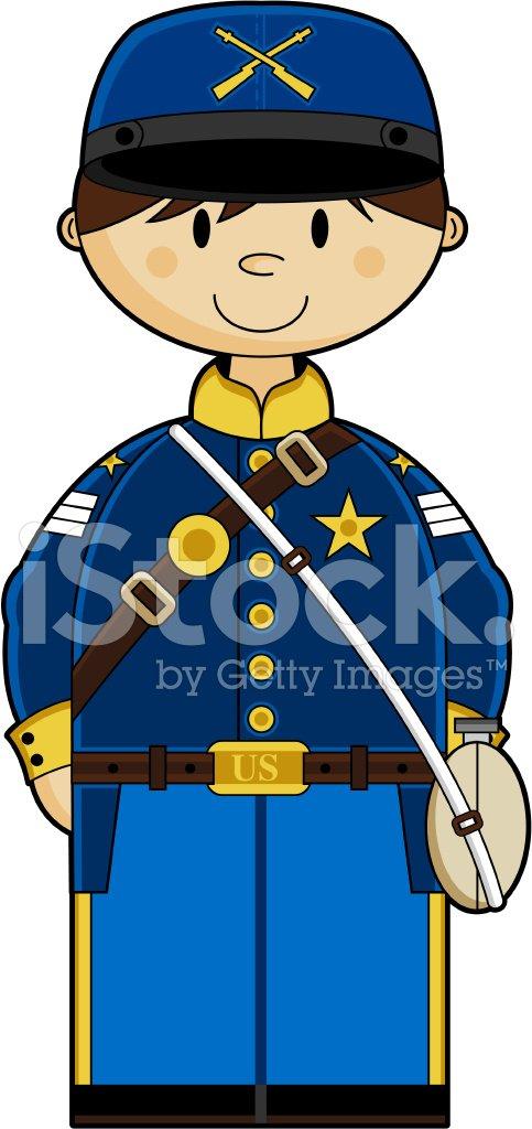 Cute American Union Soldier premium clipart.