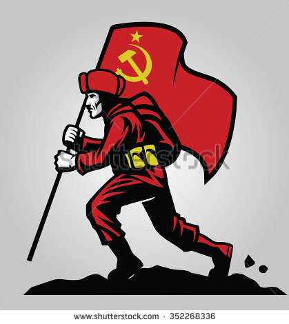 Soviet union soldier carrying.
