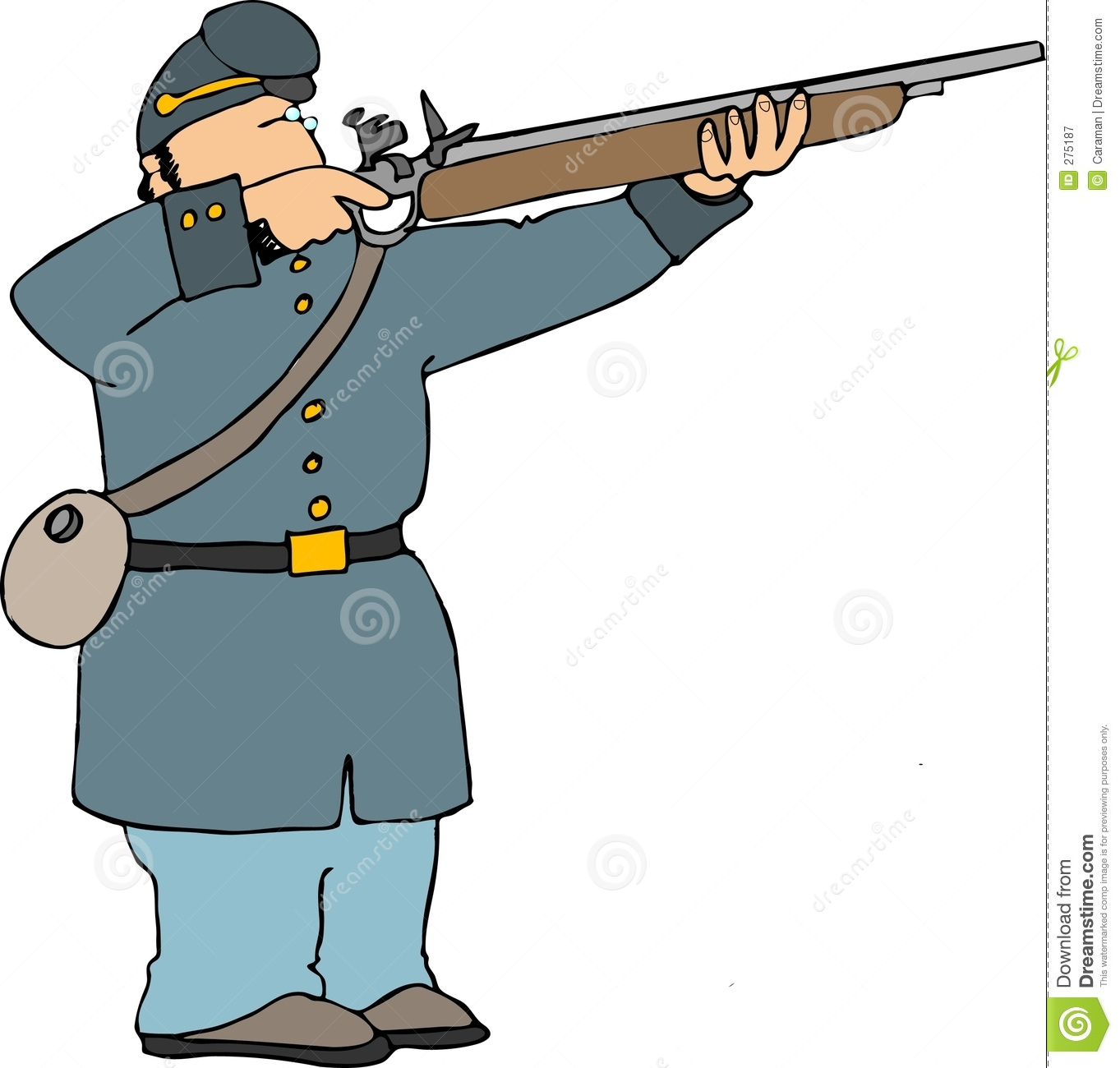 Civil War Soldier Drawing.