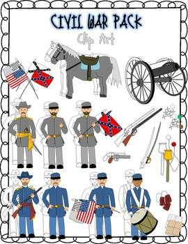 Civil War Clip Art.