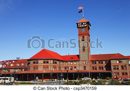Stock Photographs of Union station Portland Oregon..