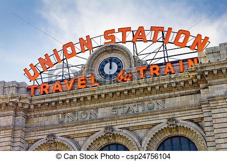 Stock Photography of Union Station in Denver.