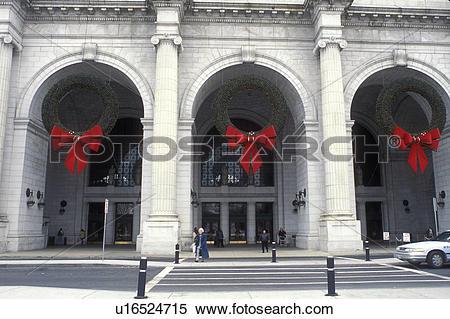 Stock Image of Union Station, Washington, DC, District of Columbia.