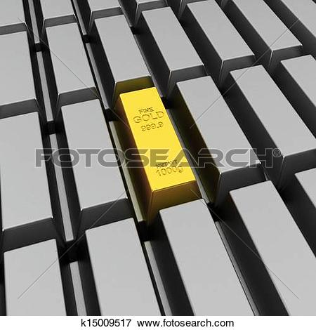 Stock Illustration of Unique gold bar k15009517.
