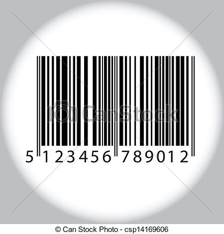 Vector Clipart of Bar code.