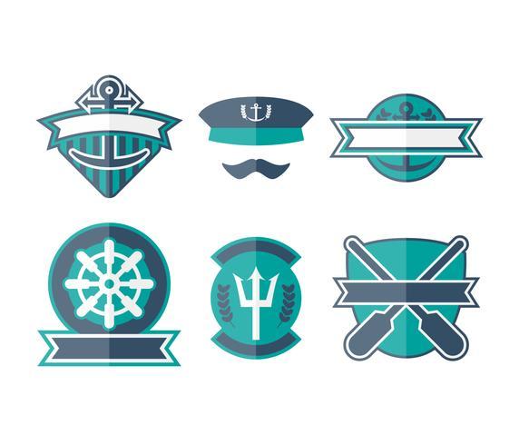 Free Unique Seaman Badge Vectors.
