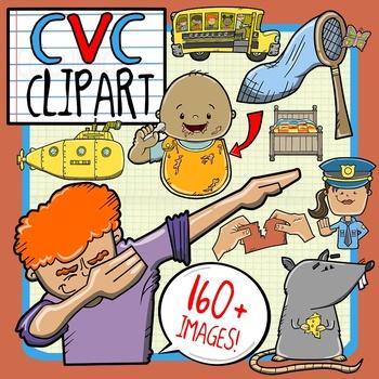 CVC Short Vowel Clip Art Bundle.