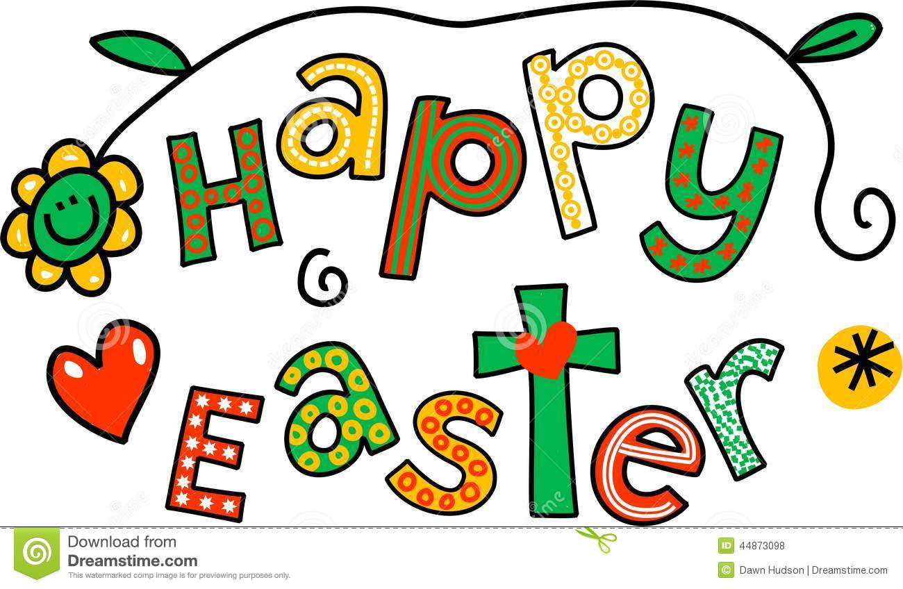 Happy Easter Clip Art Stock Illustration.