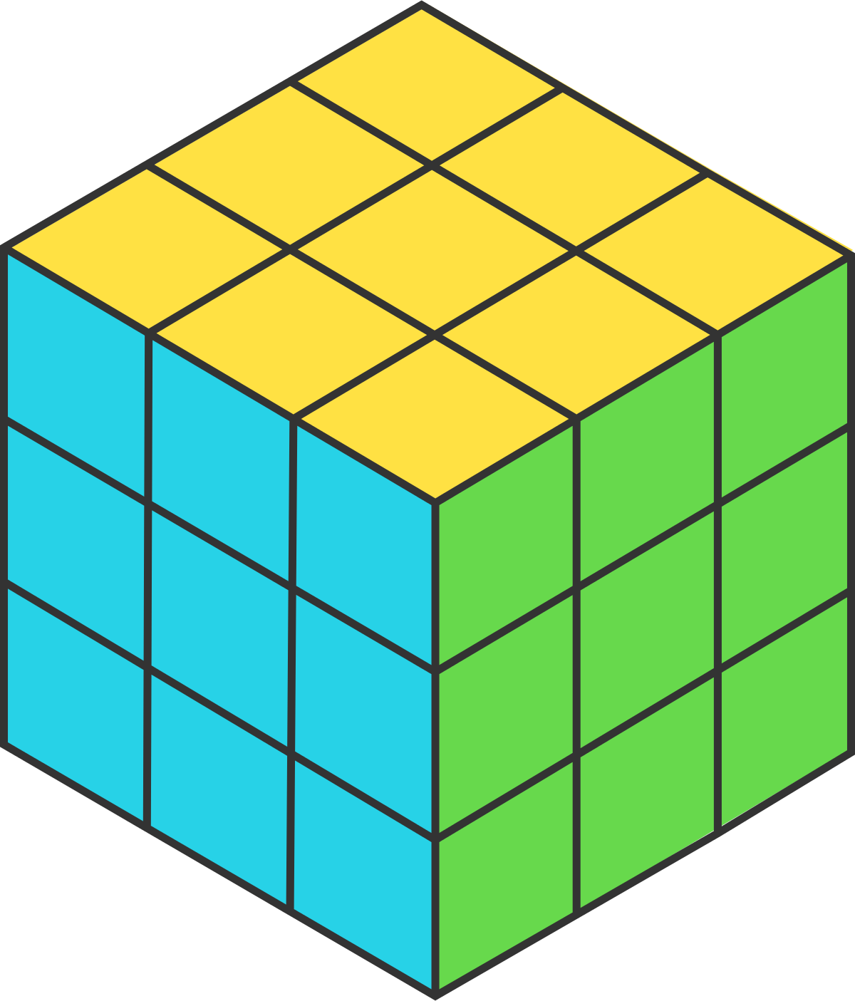 One clipart unit cube, One unit cube Transparent FREE for.